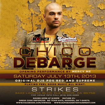 Chico Debarge @ Strike's